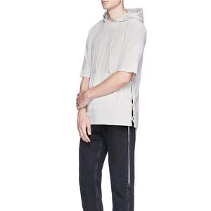 Helmut Lang side lace hooded shirt